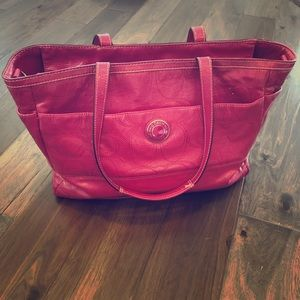 Coach Patent Leather Baby Bag